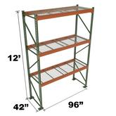 Stromberg Teardrop Storage Rack Starter Unit with Deck 96 x 42 x 12