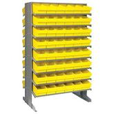 Quantum Double-Sided Sloped Shelving System with Euro Drawers