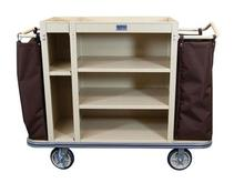 Split Cabinet Housekeeping Cart - 5 Shelf and 2 Bags