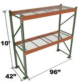 Stromberg Teardrop Storage Rack - Starter Unit with Deck - 96 in x 42 in x 10 ft