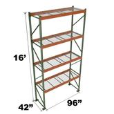 Stromberg Teardrop Storage Rack - Starter Unit with Deck - 96 in x 42 in x 16 ft