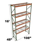 Stromberg Teardrop Storage Rack - Starter Unit with Deck - 108 in x 48 in x 16 ft
