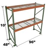 Stromberg Teardrop Storage Rack - Starter Unit with Deck - 96 in x 48 in x 10 ft
