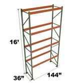 Stromberg Teardrop Storage Rack - Starter Unit without Deck - 144 in x 36 in x 16 ft