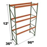 Stromberg Teardrop Storage Rack - Starter Unit without Deck - 96 in x 36 in x 12 ft