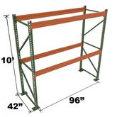 Stromberg Teardrop Storage Rack - Starter Unit without Deck - 96 in x 42 in x 10 ft