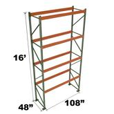 Stromberg Teardrop Storage Rack - Starter Unit without Deck - 108 in x 48 in x 16 ft