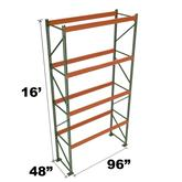 Stromberg Teardrop Storage Rack - Starter Unit without Deck - 96 in x 48 in x 16 ft