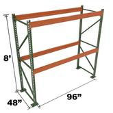 Stromberg Teardrop Storage Rack - Starter Unit without Deck - 96 in x 48 in x 8 ft