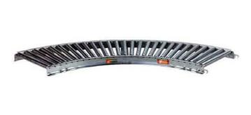 138G Steel Gravity Roller Conveyor 45 Degree Curved Section