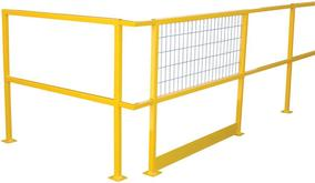 Vestil Steel Square Safety Handrails with optional wire mesh and toeboard