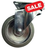 Stromberg 21 Series Gray Rubber Tread Light-Medium Duty Casters - 3.5 Inch