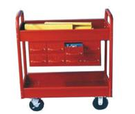 Equipto Style B Tubular Steel Frame Tray Carts