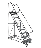 Ballymore Weight Actuated All Directional Lockstep Ladder With Perforated Treads, Model WA-AD-103214P