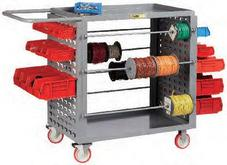 Little Giant Wire Reel Cart with Pegboard or Louvered Panels Model No. RL-LP-2436-TL