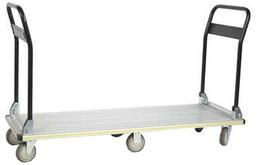 Wesco Aluminum Folding Handle Platform Truck - Long Deck