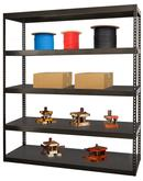 Hallowell Rivetwell High Capacity Boltless Shelving, Model HCR722484-5ME
