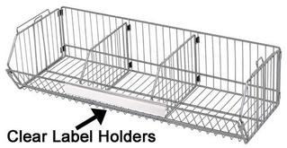 Quantum Clear Label Holders for Stacking Baskets