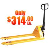 Stromberg 314 Pallet Jack Special - Yellow - Dual Wheel Load Wheel