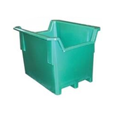 Seamless Plastic Unique Style Pallet Containers - Notched