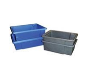 Heavy Duty Molded Plastic Stacking/Nesting Totes