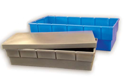 Heavy-Duty Molded Plastic Boxes With Lids