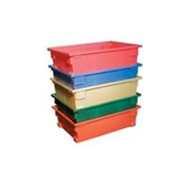 Heavy Duty Molded Plastic Stacking and Nesting Totes