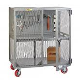 Little Giant Tool Security Cart with Pegboard Tool Storage