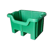Seamless Plastic Unique Style Pallet Containers - Notched on one side