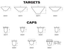 Nesting Caps and Targets