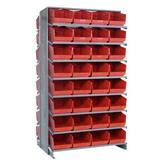 "Quantum Store-More 6"" Shelf Bin Sloped Shelving Systems - Complete Packages"