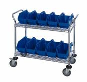 Quantum QuickPick Bin Mobile Wire Cart