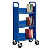 Sandusky Single Sided Sloped-Shelf Booktruck Model No. SL33017-06