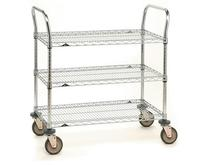 Metro SP Series Heavy Duty Utility Carts - Chrome Finish