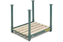 Steel King Stac-King Portable Rack With Wood Deck. Posts are sold separately