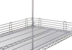 Metro Super Erecta Shelf Ledges - Stainless Finish